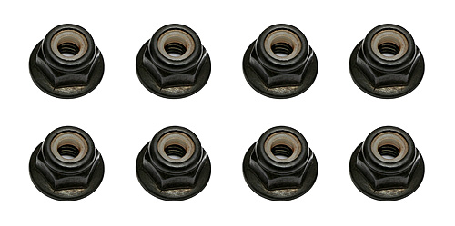 Associated M4 Locknut With Flange & Knurl AS91148