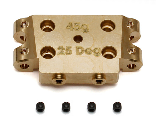 Image Of Associated B5/ B5M Factory Team Brass Bulkhead 25 Degree (45g)