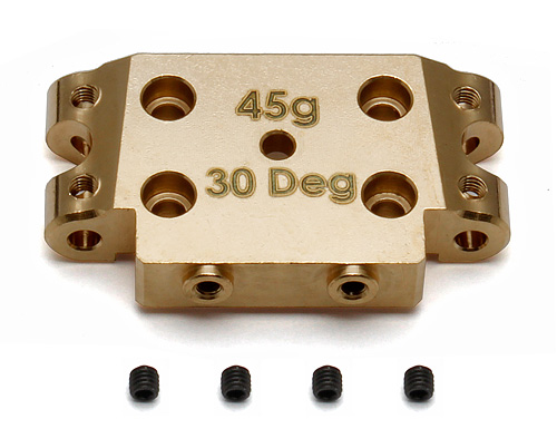 Image Of Associated B5/ B5M Factory Team Brass Bulkhead 30 Degree (45g)