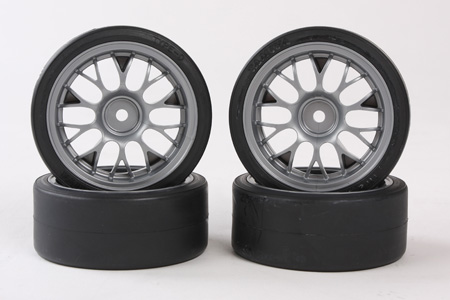 Tamiya Tire (W/wheel) (4Pcs) For 57766 (Tt-01-D Xb On Road) 9400596