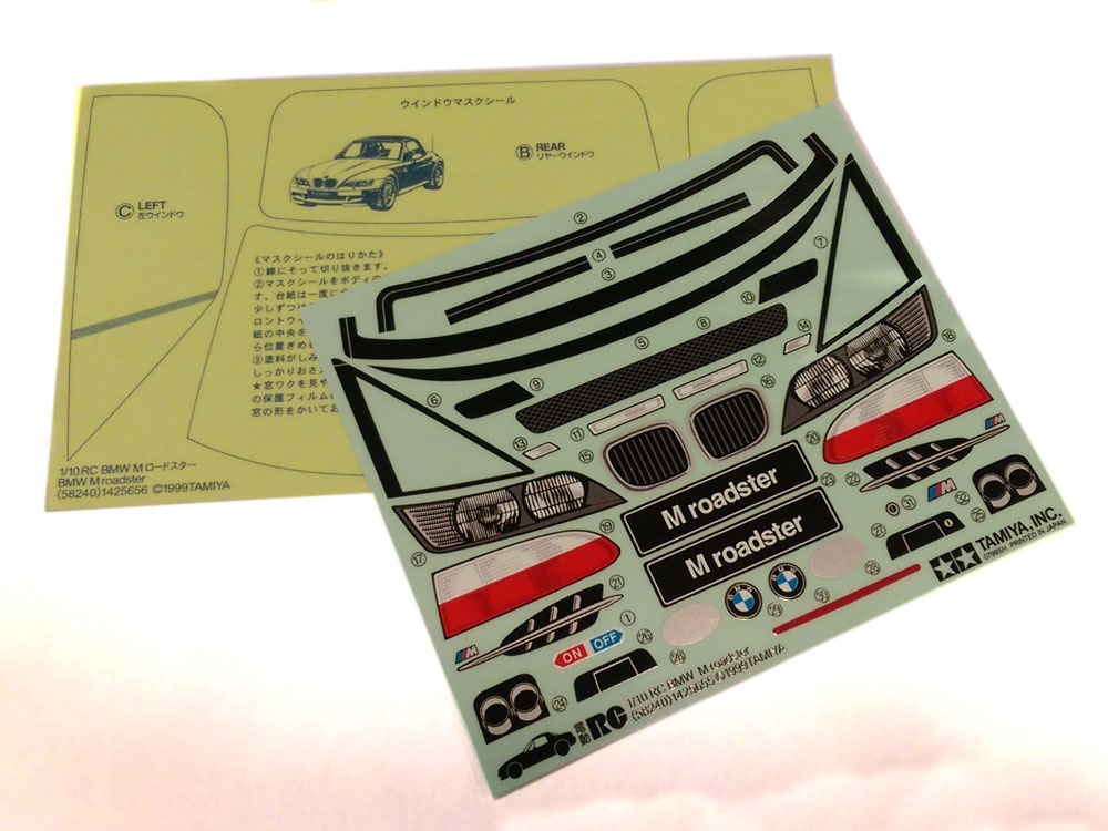 Tamiya Sticker/Masking Bag for 58240 - BMW M Roadster 9495323