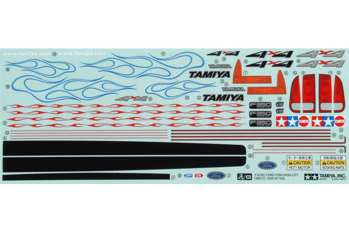 Tamiya Sticker For 58372 (High Lift) 9495491