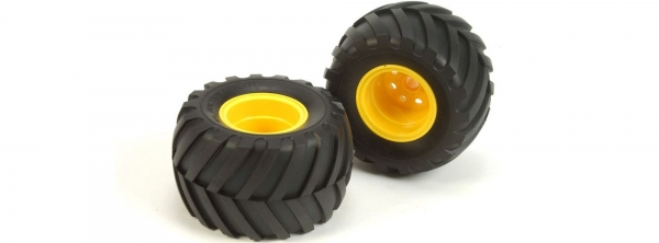 Tamiya Mad Bull Front Wheels and Tyres 9805562