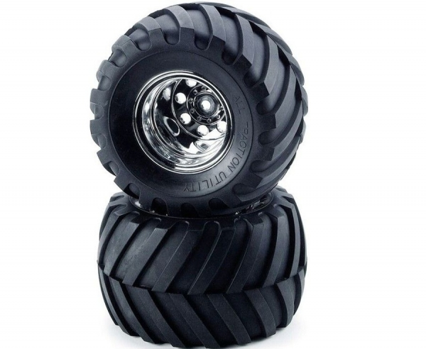Tamiya Front Tyres And Wheels (Wild Willy 2) 9805618
