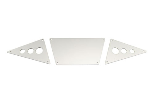 Image Of Axial Front Skid Plates & Tubes (Silver Alum) - SCX10