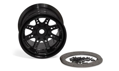 Image Of Axial 8 Spoke Beadlock Wheel - Black