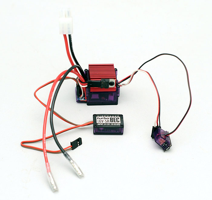 Image Of RC4WD ZE0007 Outcry Crawler Speed Controller ESC with TurboBEC