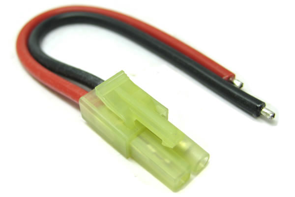 Etronix Male Mini Tamiya Connector with 10cm 18AWG Silicone Wire ET0626
