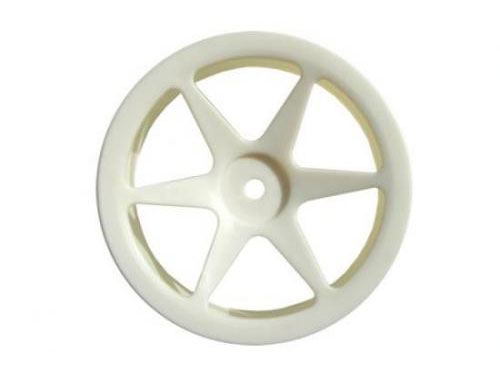 Fastrax 6-Spoke 1:10th Buggy 4WD Front Wheels (2) - White FAST0152