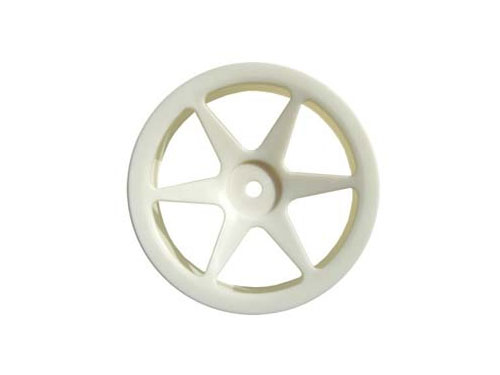 Fastrax 6-Spoke 1:10th Buggy Rear Wheels (2) - White FAST0153
