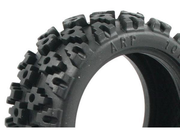 Fastrax Rally Block 1/10th Off-Road Tyres with Inserts (4) - Blue Medium Compound FAST372