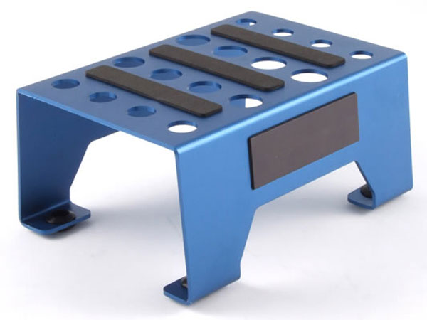 Fastrax Aluminium Pit Stand with Magnetic Strip - Blue FAST410B