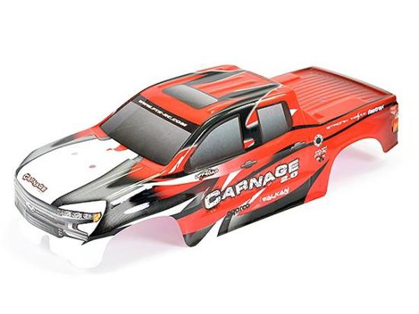 Schumacher cougar 2 Body Carrosserie Lexan par Penguin avec V en forme de Wing Vintage