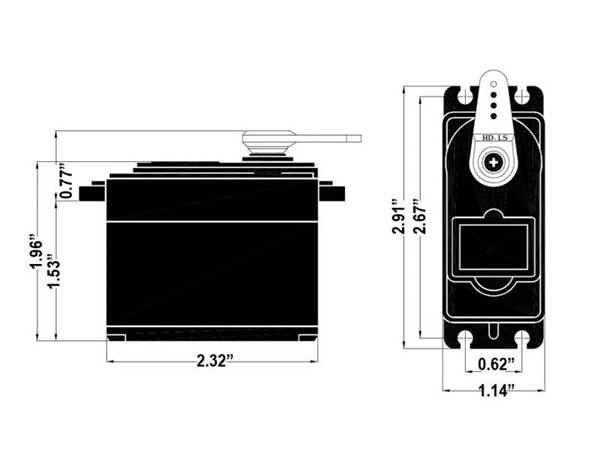 Hitec HS755MG Quarter Scale metal gear servo