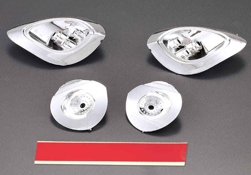 Killer Body Alfa Romeo 8c 1/7, Chrome Headlight Reflectors   KB48187