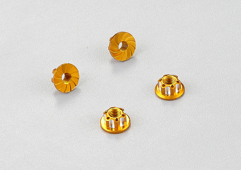 Killer Body Aluminum Wheel Nuts (golden) 4pcs.   KB48365GD