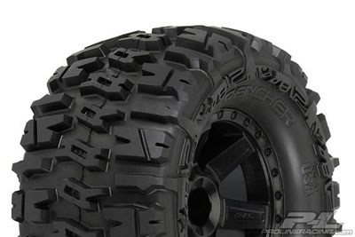 Pro-Line Trencher 2.8 Tyres On Black Desperados PL1170-12