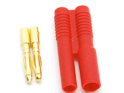 Image Of Simply RC 2mm Shielded Bullet Connectors (Male)