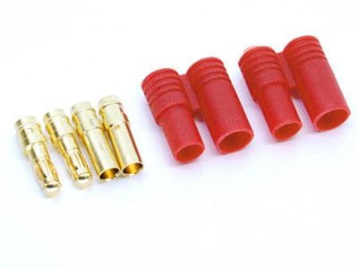 Image Of Simply RC 3.5mm Shielded Bullet Connectors (Male)