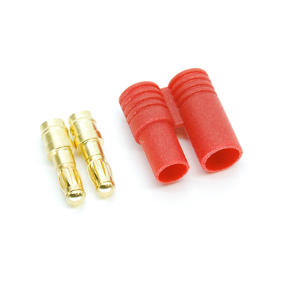 Image Of Simply RC 3.5mm Shielded Bullet Connectors (Male Pair)