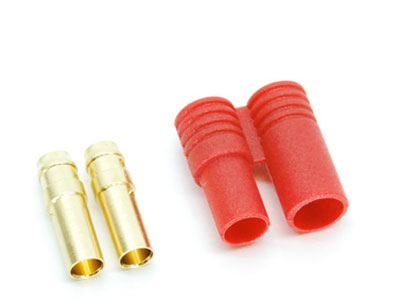 Image Of Simply RC 3.5mm Shielded Bullet Connectors (Female Pair)