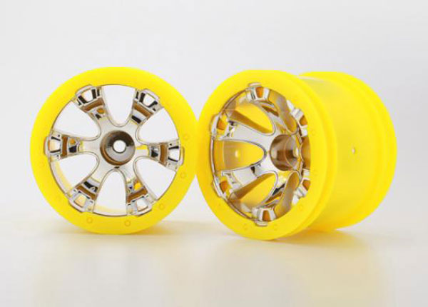 Traxxas Geode 2.2 (Chrome/Yellow Beadlock) (2) 7275