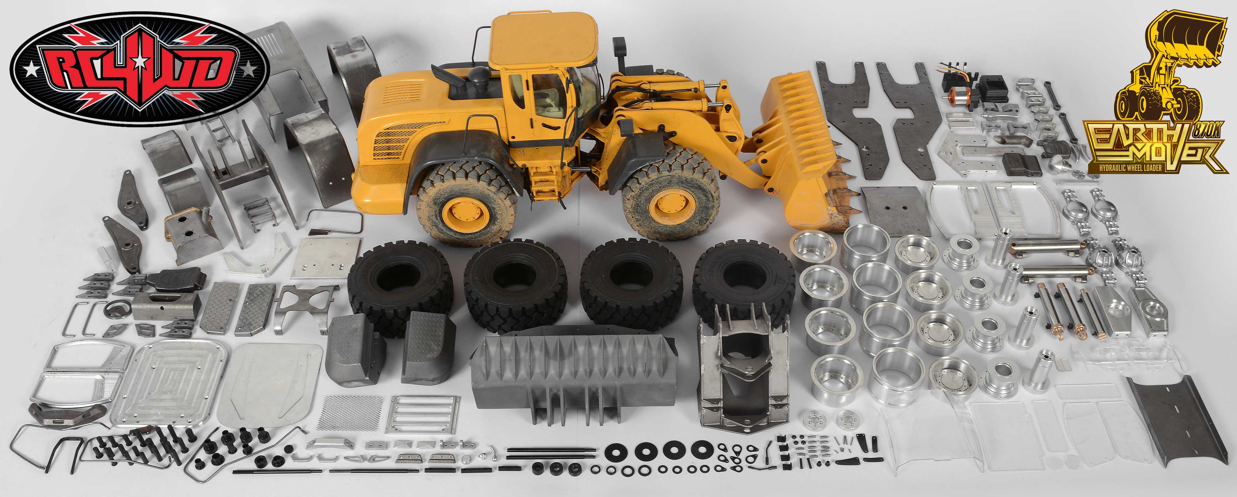 Rc4wd Vvjd00013 1 14 Scale Earth Mover 870k Hydraulic Wheel Loader Rc Car Wiring Diagram Rc8 2e Vv Jd00013