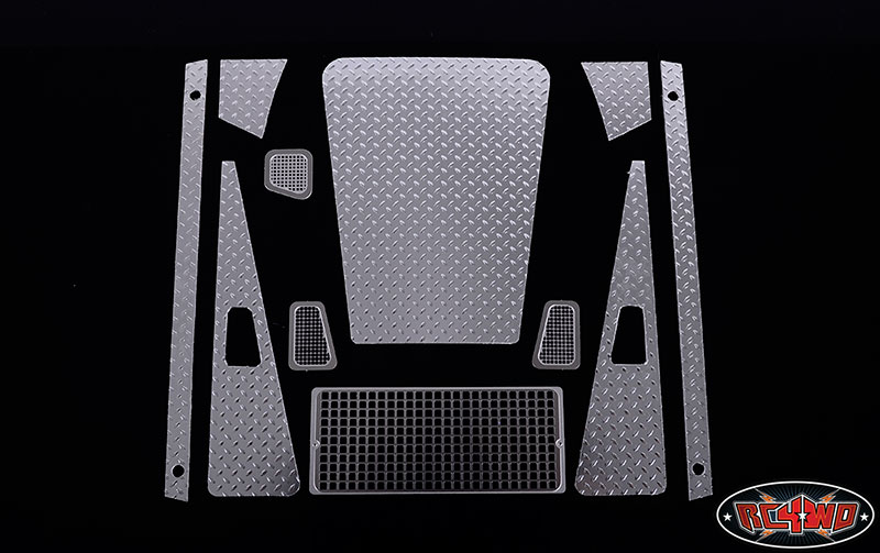 RC4WD ZS0985 Diamond Plate Accessory Pack for Defender D90 Body Z-S0985