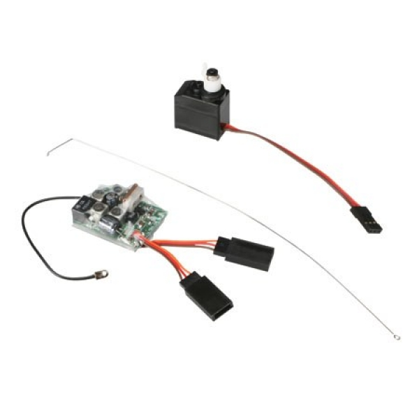 Image Of Losi 27MHz AM Receiver 3 Wire Servo Combo: Micro
