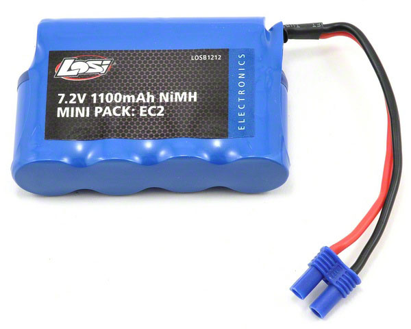 Image Of Losi 7.2V 1100mAh NiMH with EC2 Connector