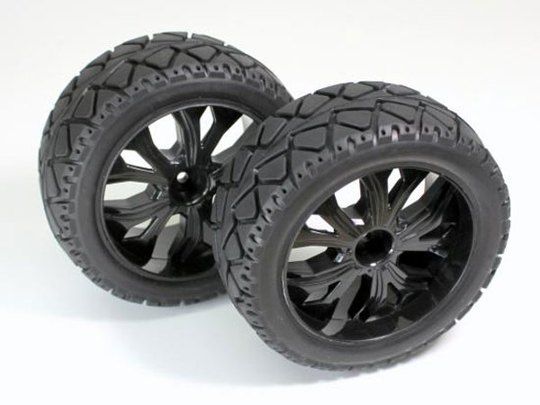 Absima 1:10 On Road Wheel and Tyre Set Front - Black 2500013