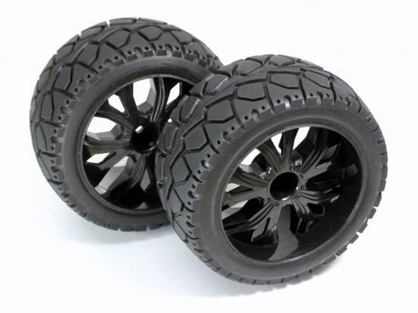 Absima 1:10 On Road Wheel and Tyre Set Rear - Black 2500014