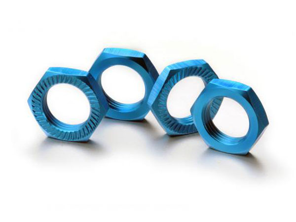Image Of Absima Hex Lock Nut 17mm Blue (4)
