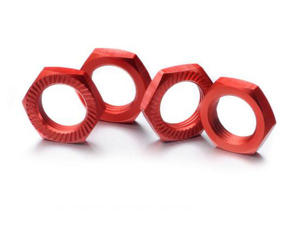Absima Hex Lock Nut 17mm Red (4) 2560007