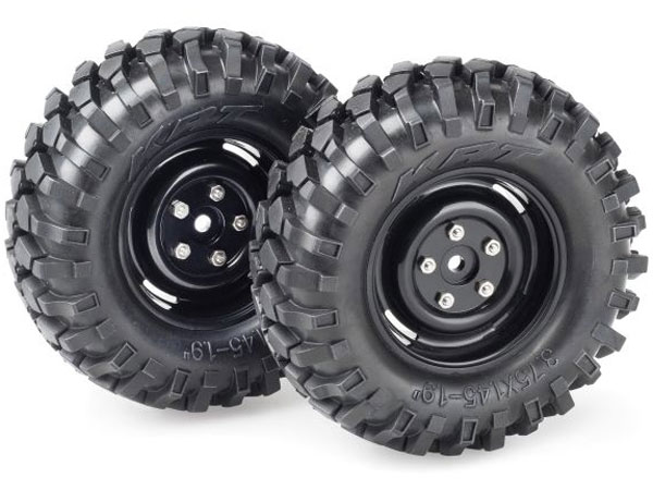 Fastrax Kong 96mm Crawler Tyres on 1.9 Scale Wheels (2) - Black FAST0063B