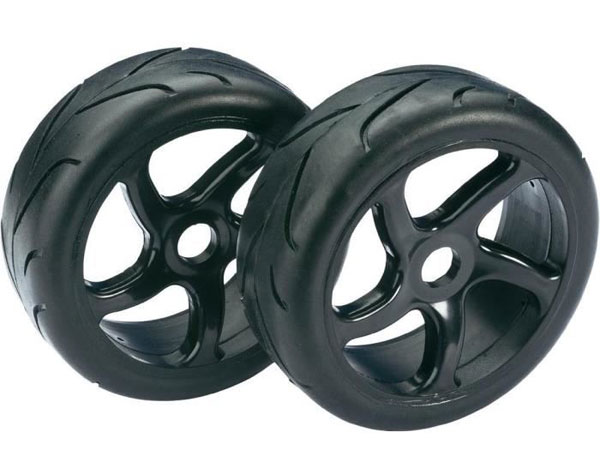 Absima Wheel Set Buggy Street Black 1:8 (2) 2530001