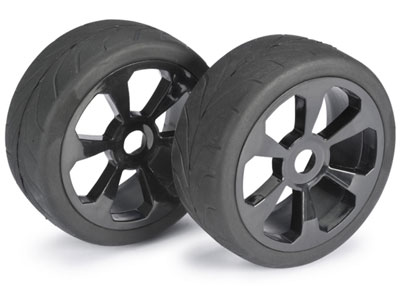 Absima Wheel Set Buggy 6 Spoke / Street Black 1:8 (2) 2530008