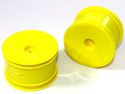 Team C Rear Rims Yellow (2) 2WD Buggy T02033Y