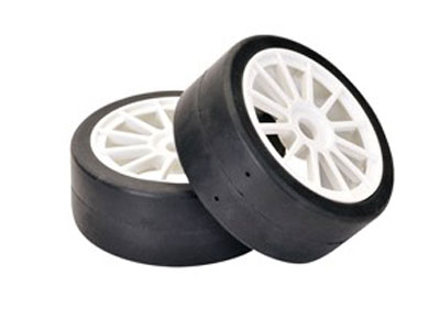 Team C Wheel Set RS Racing Rally Slick/ White 1:8 (2) TC0809