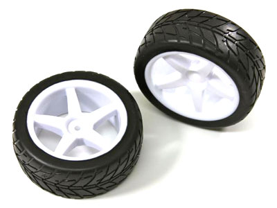 Absima Wheel Set Buggy 5-Spoke / Street Front White 1:10 (2 pcs) 2500007