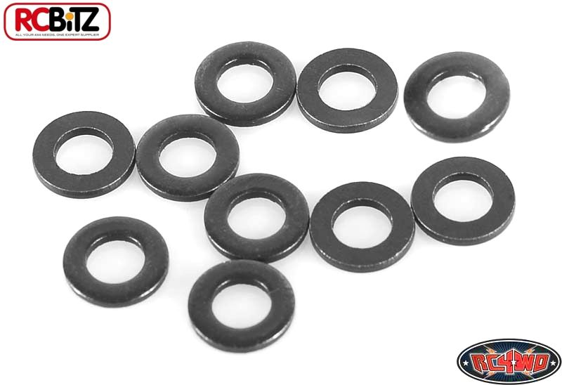 RC4WD ZS0913 M4 Flat Washer (Black) 