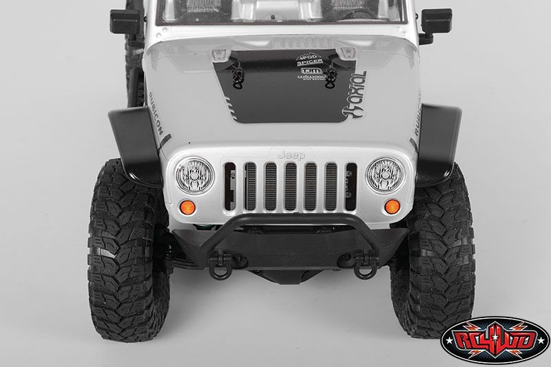 RC4WD ZS1152 Aluminum Tube Front Fender for Axial Jeep Rubicon (Black) 