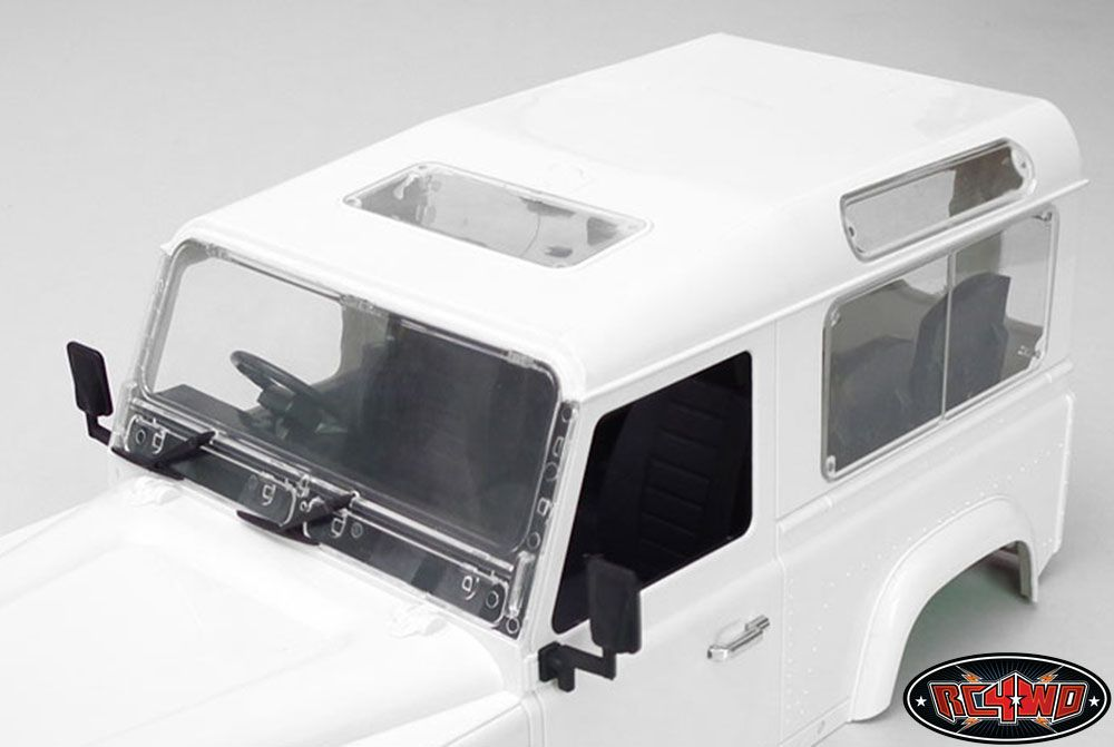 RC4WD ZB0053 Land Rover Defender D90 Clear Window Set Z-B0053