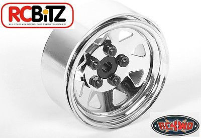RC4WD ZQ0040 5 Lug Wagon 1.9 Single Steel Stamped Beadlock Wheel (Chrome) 
