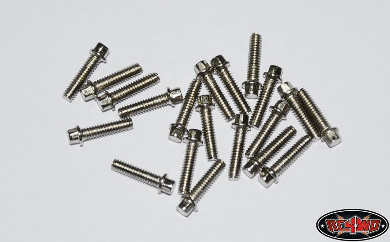 RC4WD ZS0423 RC4WD Miniature Scale Hex Bolts (M2 x 8mm) (Silver) 