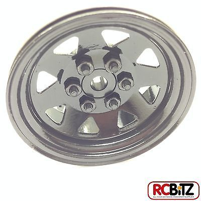 RC4WD ZQ0001 6 Lug Wagon 1.9 Single Steel Stamped Beadlock Wheel (Black) 