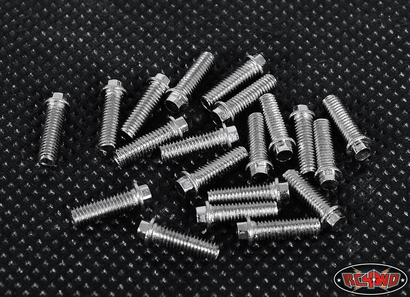 RC4WD ZS0693 RC4WD Miniature Scale Hex Bolts (M3x10mm) (Silver) 