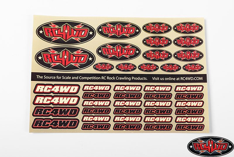 RC4WD Medium Decal Sheet Z-S1272