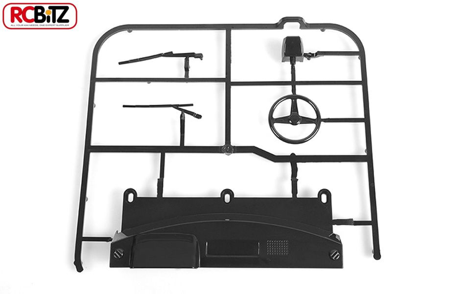 RC4WD ZB0080 RC4WD Mojave II Dash and Wiper Parts Tree (Black) 