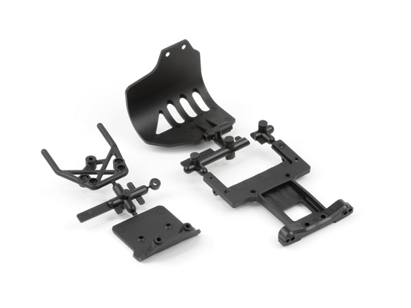 Arrma Front Bumper and Rear Chassis Plate AR320004